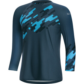 GORE WEAR C5 Trail Maillot 3/4 Femme, deep water blue/dynamic cyan
